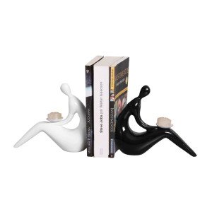 Suporte para Livros Preto e Branco
