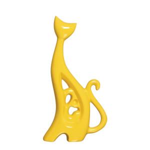 Estatueta Gato Fashion em Cerâmica