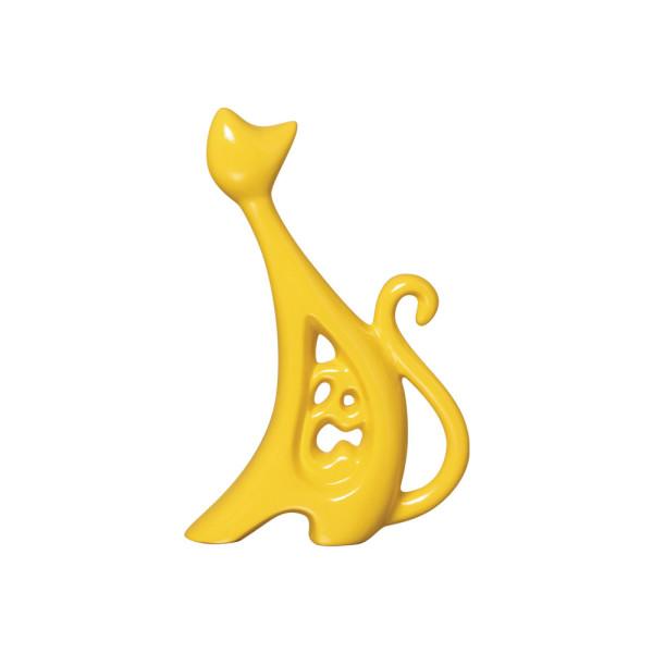 Estatueta Gato Fashion P em Cerâmica
