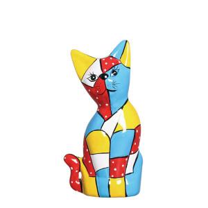 Estatueta Gato Mosaico de Cerâmica
