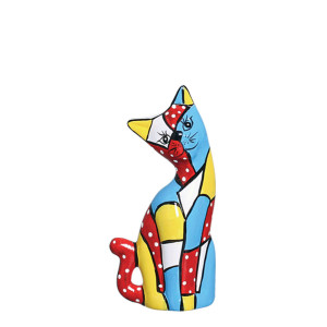 Estatueta Gato Mosaico Decorativa