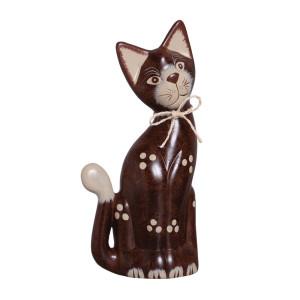 Gato Estatueta de Cerâmica