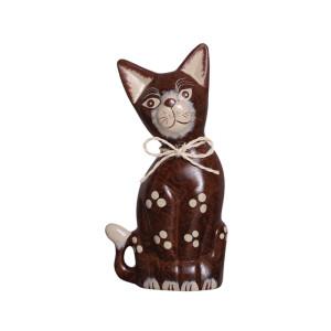 Gato Estatueta de Cerâmica M