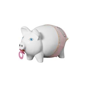 Cofre Porquinho Bebê Decorativo