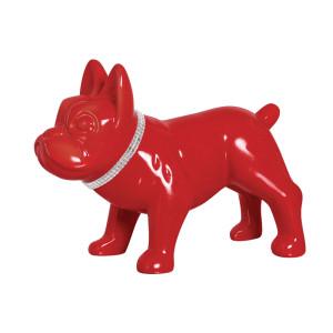 Cofre Cachorro Decorado Vermelho