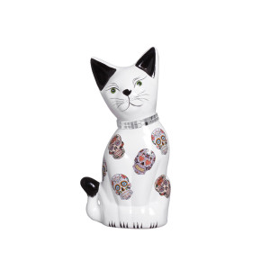 Gato Estatueta Média em Cerâmica