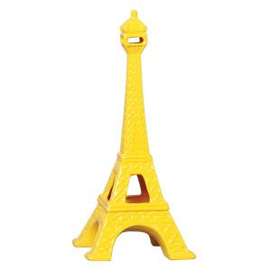 Torre Eiffel em Cerâmica Amarelo