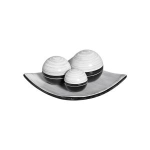 Jogo Esferas em Cerâmica Decorativa