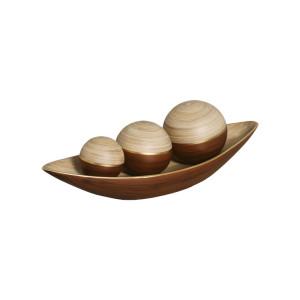 Jogo Esferas mais Canoa de Cerâmica