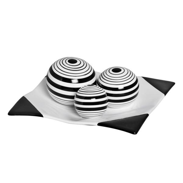 Jogo Esferas Listradas Decorativa