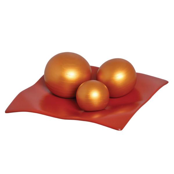 Jogo Esferas Dourada em Cerâmica