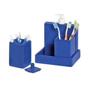 Kit Decorativo para Banheiro Azul