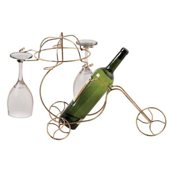 Porta Vinho e Taças em Ferro